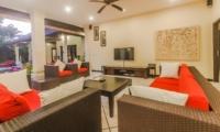Living Area with TV - Villa Tresna - Seminyak, Bali