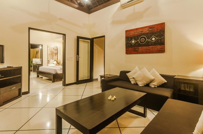Indoor Living Area with TV - Villa Tresna - Seminyak, Bali