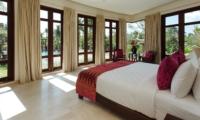 Bedroom with Pool View - Villa Umah Daun - Umalas, Bali