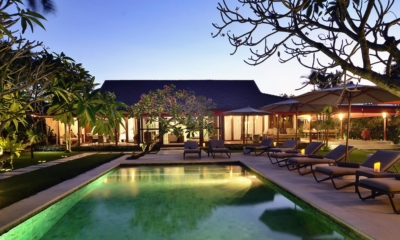 Gardens and Pool at Night - Villa Umah Duri - Umalas, Bali