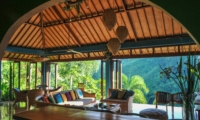 Living Area with View - Villa Umah Shanti - Ubud, Bali