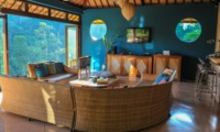 Lounge Area with TV - Villa Umah Shanti - Ubud, Bali
