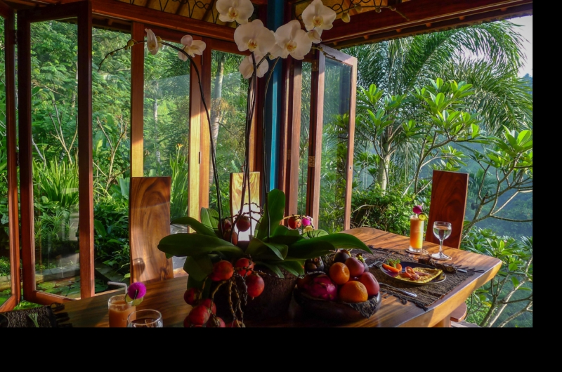 Dining Area with View - Villa Umah Shanti - Ubud, Bali