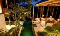 Gardens and Pool at Night - Villa Vajra - Ubud, Bali