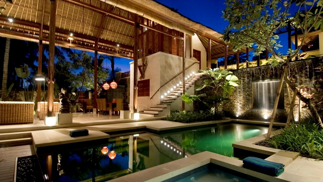 Pool at Night - Villa Vajra - Ubud, Bali