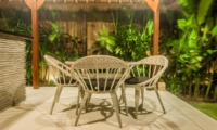 Outdoor Seating Area at Night - Villa Vara - Seminyak, Bali