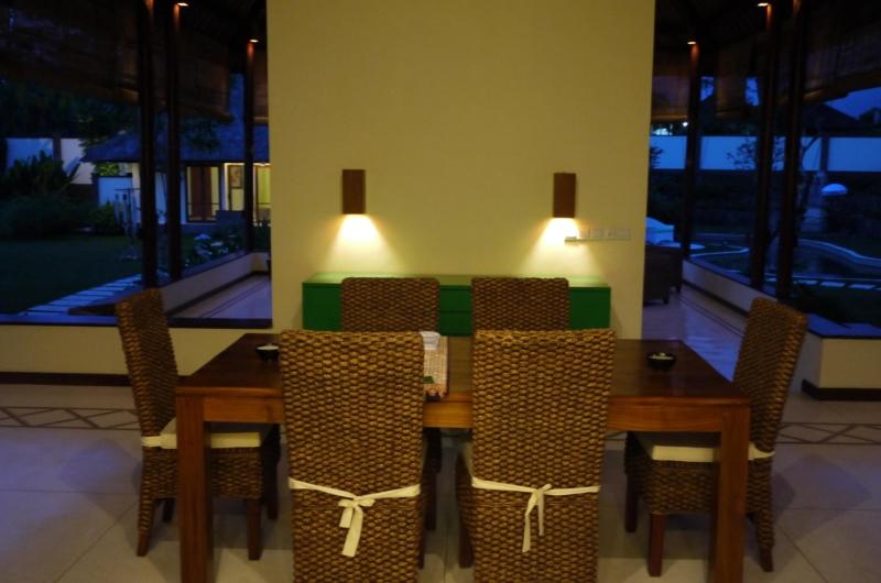 Dining Area at Night - Villa Vastu - Ubud, Bali
