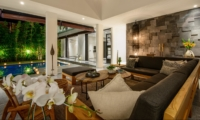 Living Area with Pool View - Villa Waha - Canggu, Bali