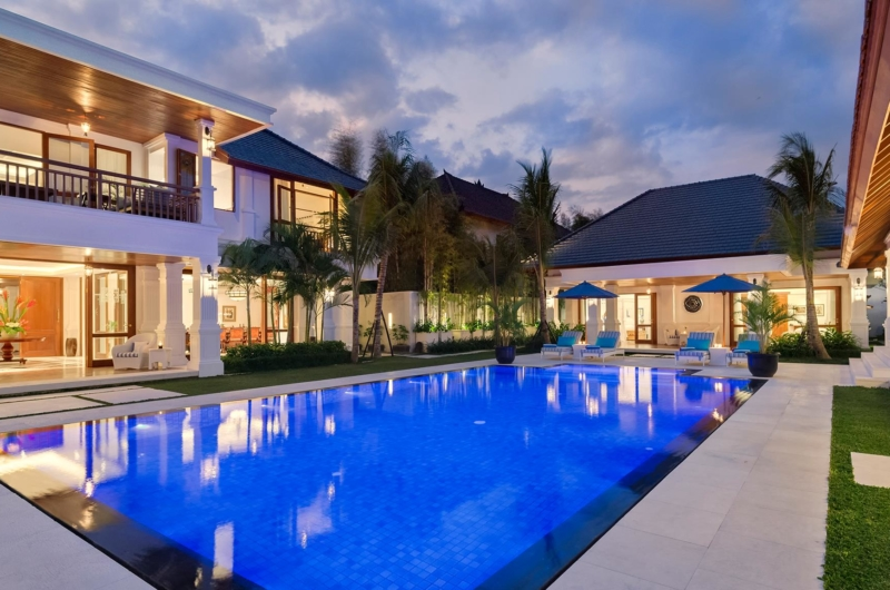 Swimming Pool at Night - Villa Windu Asri - Seminyak, Bali