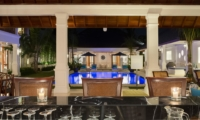 Dining Area with Pool View - Villa Windu Asri - Seminyak, Bali