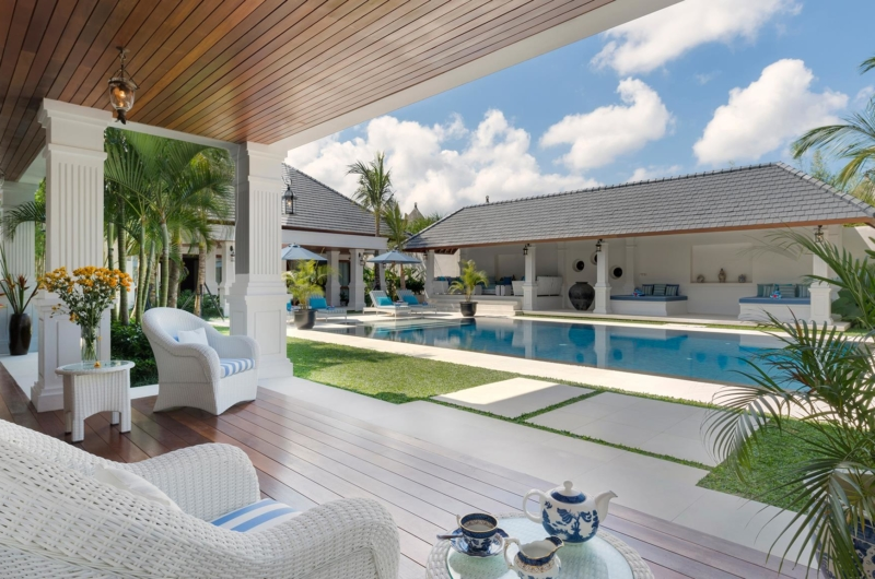 Seating Area with Pool View - Villa Windu Asri - Seminyak, Bali