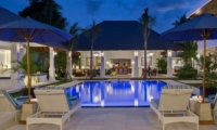 Private Pool at Night - Villa Windu Asri - Seminyak, Bali