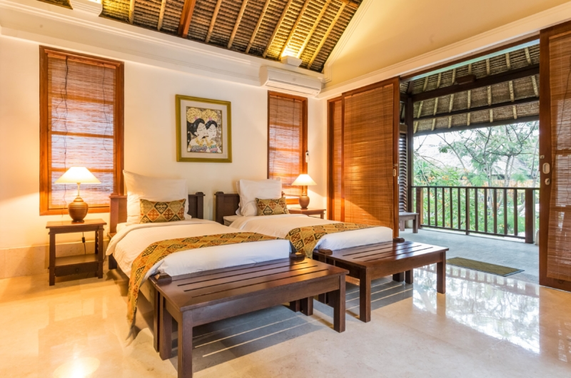 Twin Bedroom and Balcony - Villa Yasmine - Jimbaran, Bali