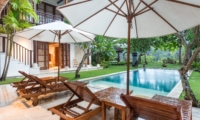 Pool Side Loungers - Villa Yasmine - Jimbaran, Bali