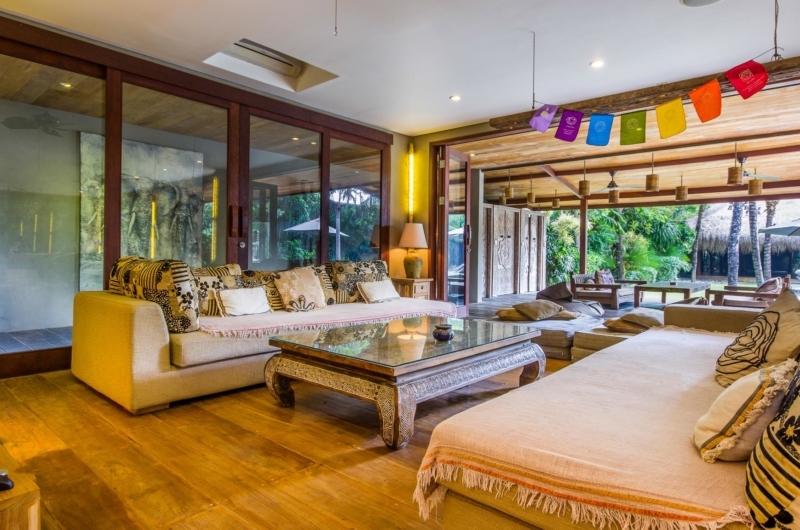 Living Area with Wooden Floor - Villa Yoga - Seminyak, Bali