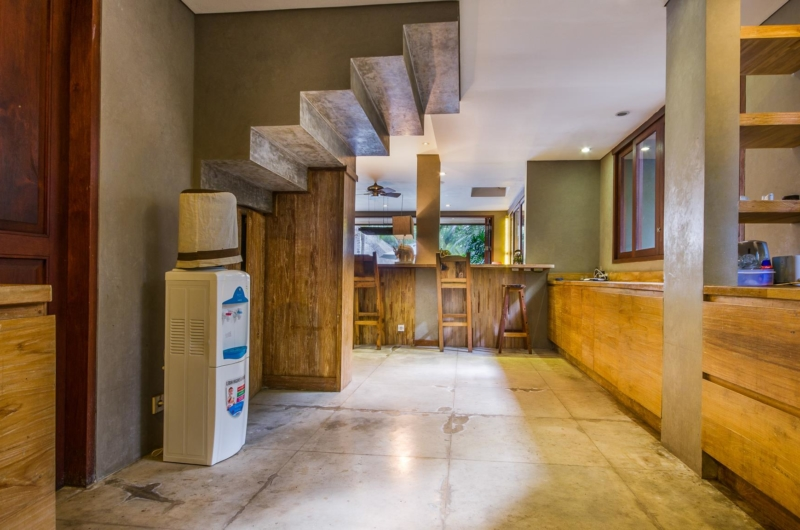 Kitchen with Up Stairs - Villa Yoga - Seminyak, Bali