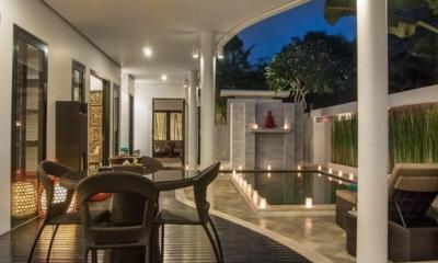 Pool Side Dining - Villa Zensa Residence - Seminyak, Bali