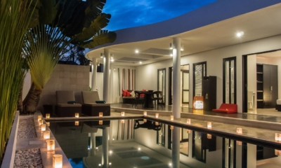 Pool at Night - Villa Zensa Residence - Seminyak, Bali