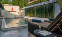 Pool Side Loungers - Villa Zensa Residence - Seminyak, Bali