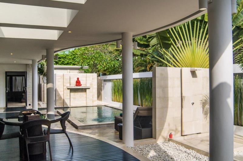 Pool Side Seating Area - Villa Zensa Residence - Seminyak, Bali