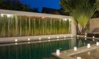 Pool Side Candles - Villa Zensa Residence - Seminyak, Bali