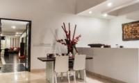 Indoor Dining Area - Villa Zensa Residence - Seminyak, Bali