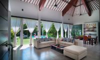 Lounge Area with Pool View - Villa Alice Dua - Seminyak, Bali