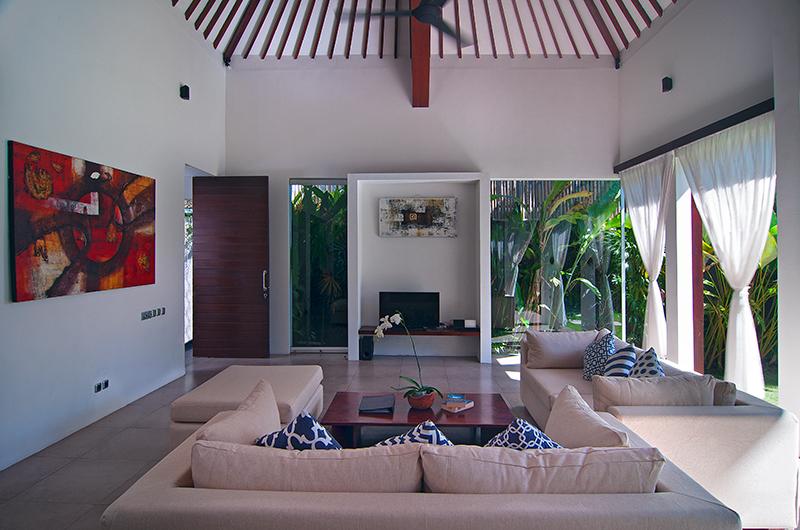 Lounge Area with TV - Villa Alice Dua - Seminyak, Bali