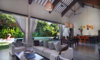 Living, Kitchen and Dining Area - Villa Alice Dua - Seminyak, Bali