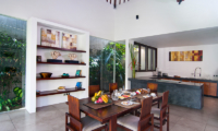 Kitchen and Dining Area - Villa Alice Dua - Seminyak, Bali
