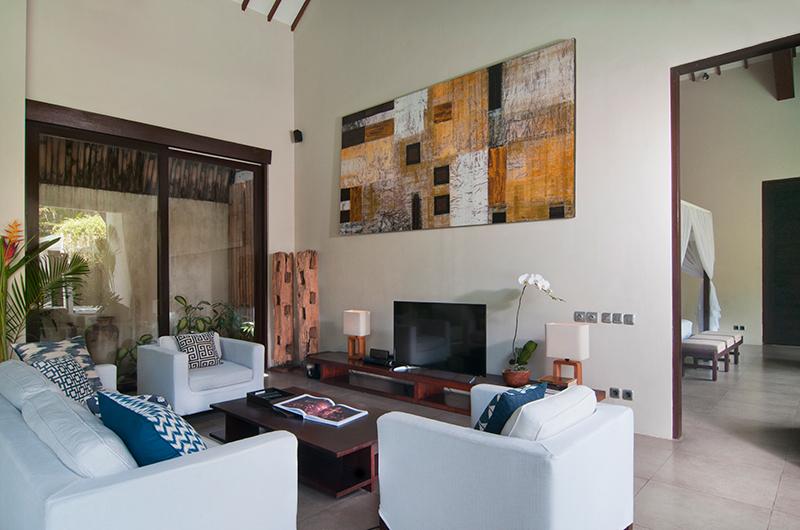 Living Area with TV - Villa Alice Satu - Seminyak, Bali