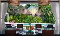 Dining Area with Pool View - Villa Alice Satu - Seminyak, Bali