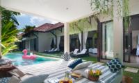 Pool Side Seating Area - Villa Alice Satu - Seminyak, Bali