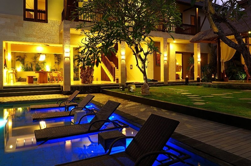 Pool at Night - Villa Alin - Seminyak, Bali