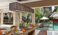 Pool Side Dining - Villa Alin - Seminyak, Bali