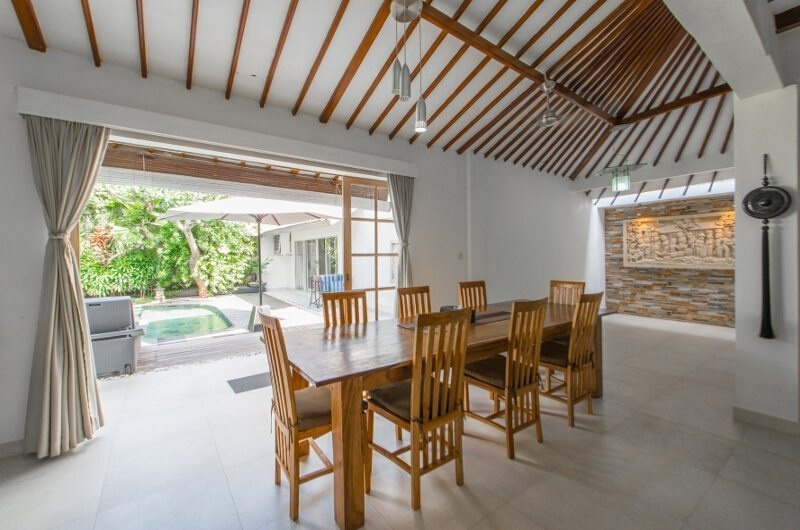 Dining Area with Pool View – Villa Amore Mio – Seminyak, Bali