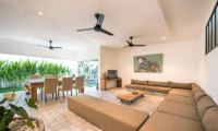 Living and Dining Area with Pool View - Villa Angel - Seminyak, Bali