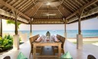 Dining Area with Sea View - Villa Angsoka - Candidasa, Bali