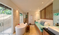 Bathroom with Sofa - Villa Angsoka - Candidasa, Bali