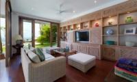Lounge Area with TV - Villa Angsoka - Candidasa, Bali