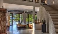 Lounge Area with Up Stairs - Villa Aparna - Lovina, Bali
