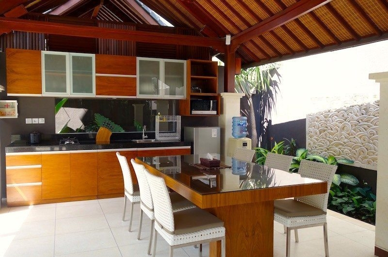 Indoor Kitchen and Dining Area - Villa Ava - Uluwatu, Bali