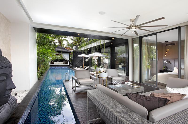 Pool Side Seating Area - Villa Balimu - Seminyak, Bali