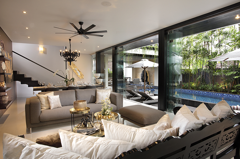 Living Area with Pool View - Villa Balimu - Seminyak, Bali