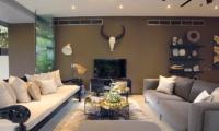 Lounge Area with TV - Villa Balimu - Seminyak, Bali