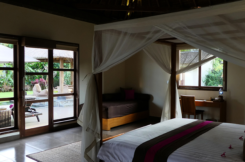 Bedroom with Pool View - Villa Bamboo - Ubud, Bali
