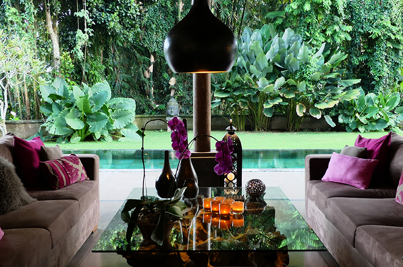 Lounge Area with Pool View - Villa Bamboo - Ubud, Bali