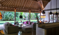 Living Area with Pool View - Villa Bamboo - Ubud, Bali