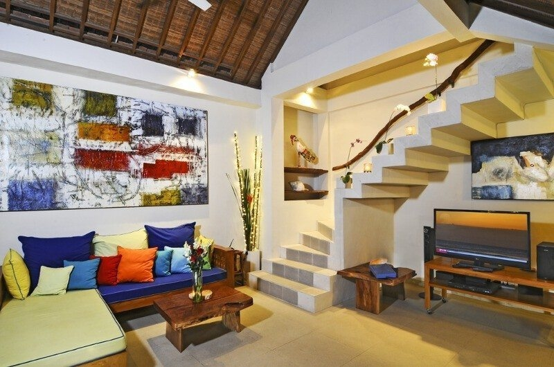 Lounge Area with Up Stairs - Villa Beji Seminyak - Seminyak, Bali