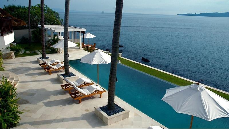 Pool with Sea View - Villa Blanca - Candidasa, Bali